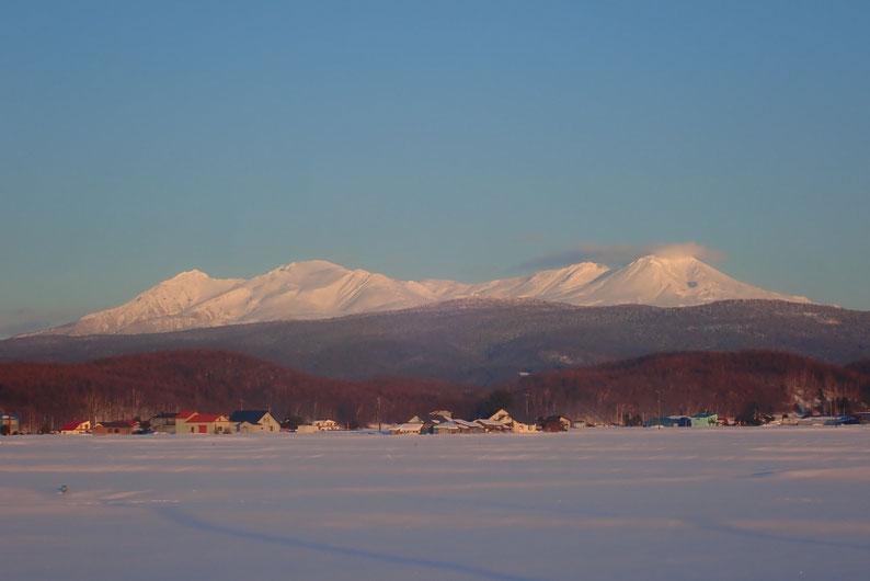 夕景の大雪山