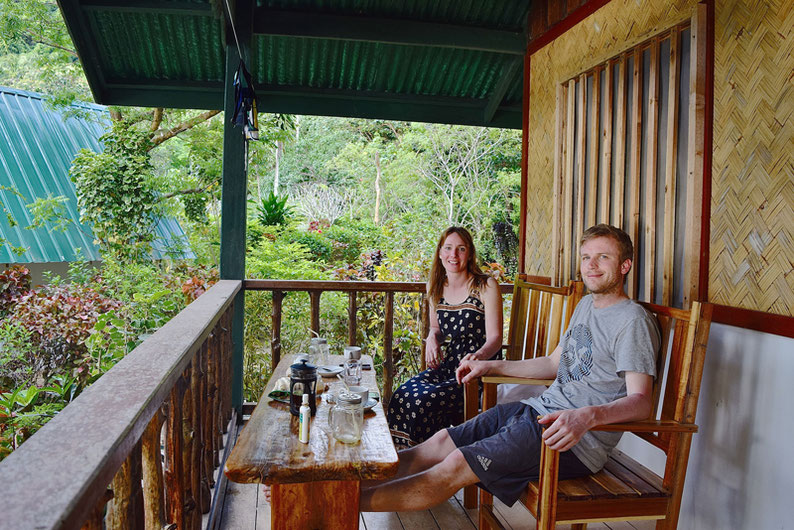 Quiet Place Away From El Nido - Coffee and Smoothie Time In Front of Our Cottage