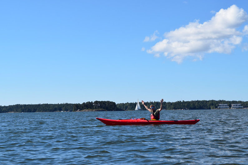 Kayaking in Finland - A happy moment