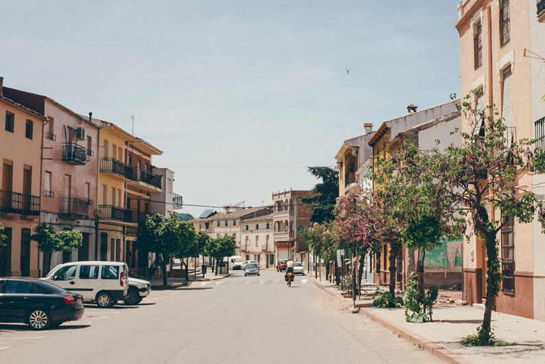 Biking Adventure in Spain - a typical Spanish town