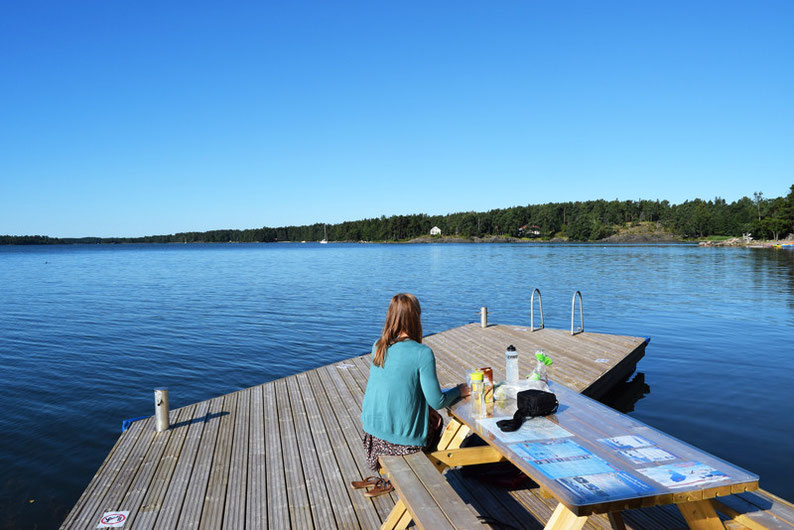 One of Our Short Breaks in Finland - Meal Time before our Kayaking Tour with Natura Viva