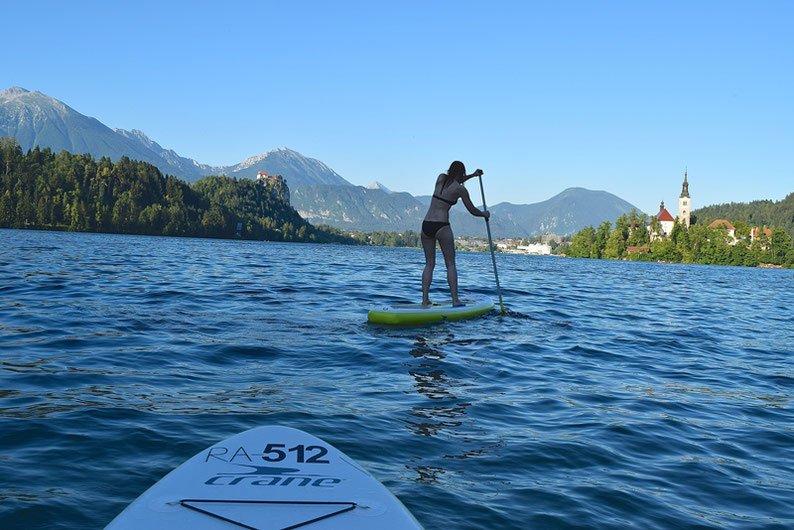 Summer Adventure Activities in Slovenia - Stand up Paddling at Lake Bled