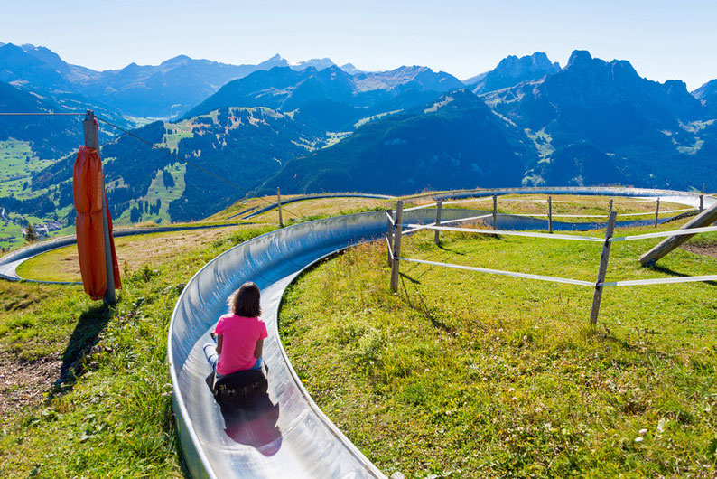 Summer sledding in Switzerland