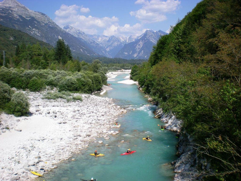 Activities in Slovenia - Kayaking in Bovec