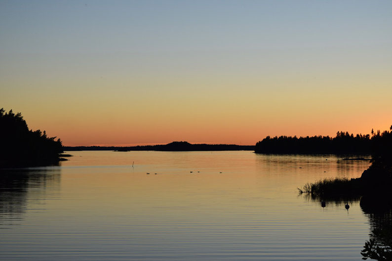 One of Our Short Breaks in Finland - Sunset over Pellinki