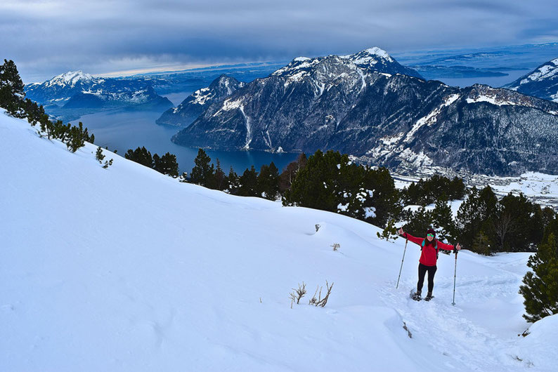 Snowshoeing in Switzerland