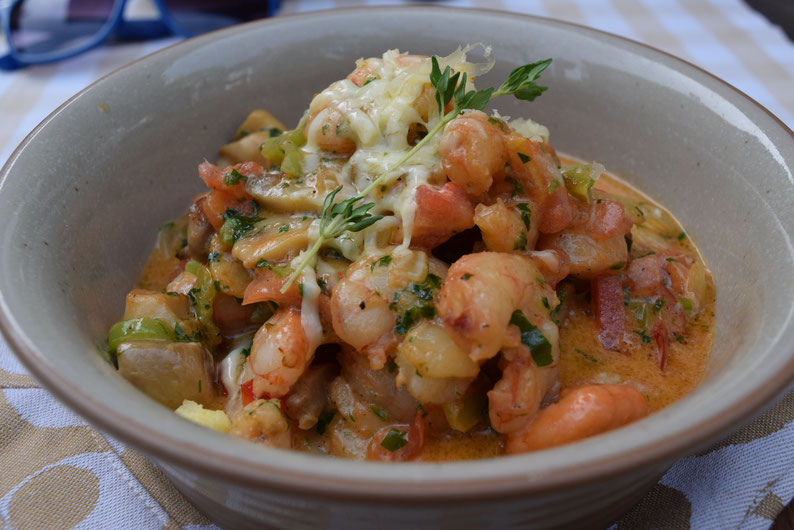Turkish food - Shrimps in casserole