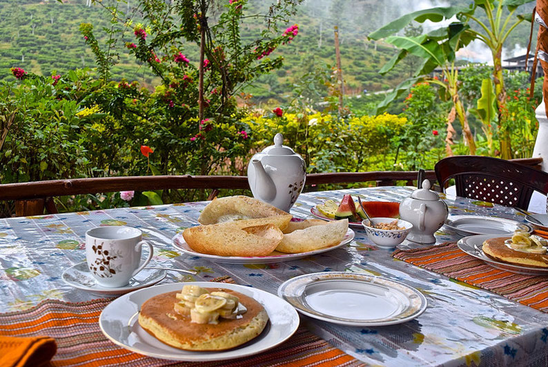 9 Days in Sri lanka - Delicious Breakfast at our Stay