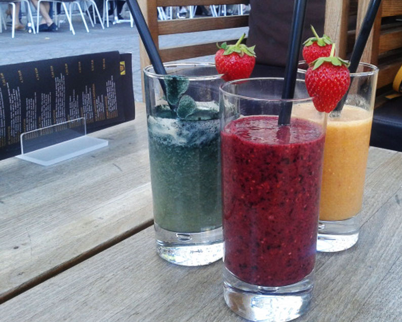 Why Slovenia Should Be Your Next Destination - Smoothies at Cacao bar in Ljubljana