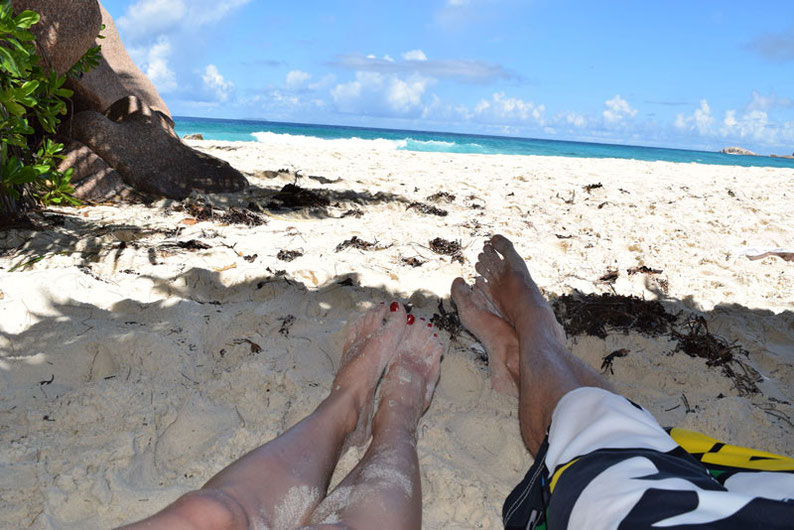 Our trip to the beautiful Seychelles islands  - Enjoying the beach at La Digue