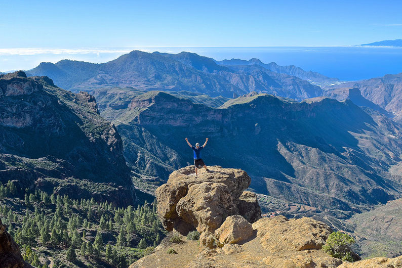 At Roque Nublo, Gran Canaria