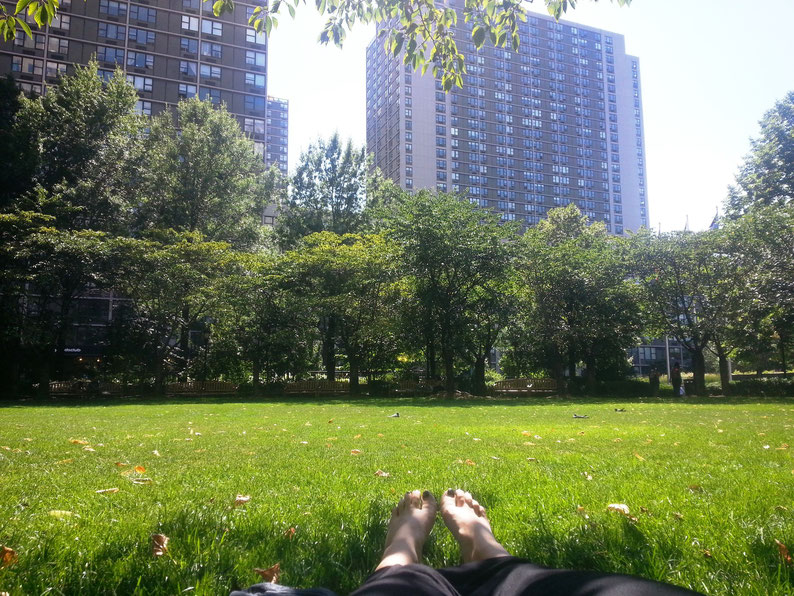 Relaxing at Pumphouse Park, New York