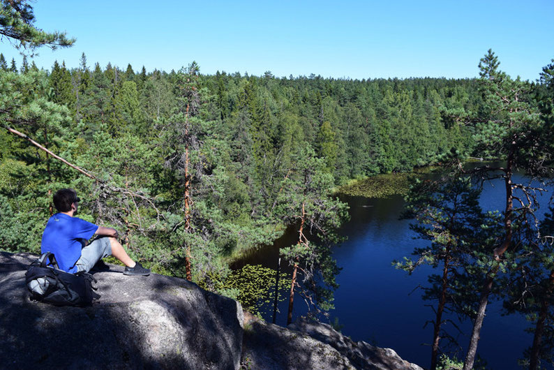 One of Our Short Breaks in Finland - One of the Viewpoints in Nuuksio National Park