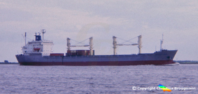 OBC Frachter PANTELIS A. LEMOS, Elbe 1985