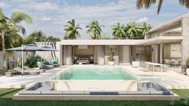 achat villa haut de gamme Mirari grand baie Ile maurice