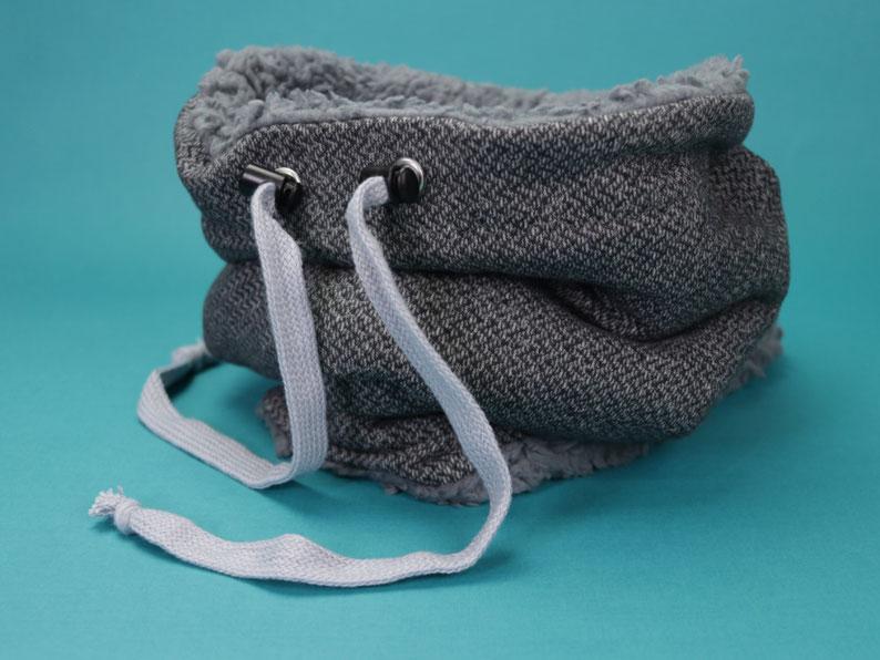 Heute zeige ich euch einfache und schnelle 3 Näh-Geschenkideen für Männer – Snood bzw. Loop nähen