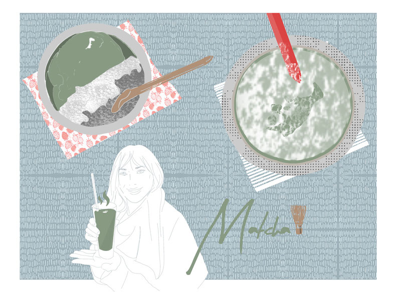 Floratcha liebt Matcha Illustration