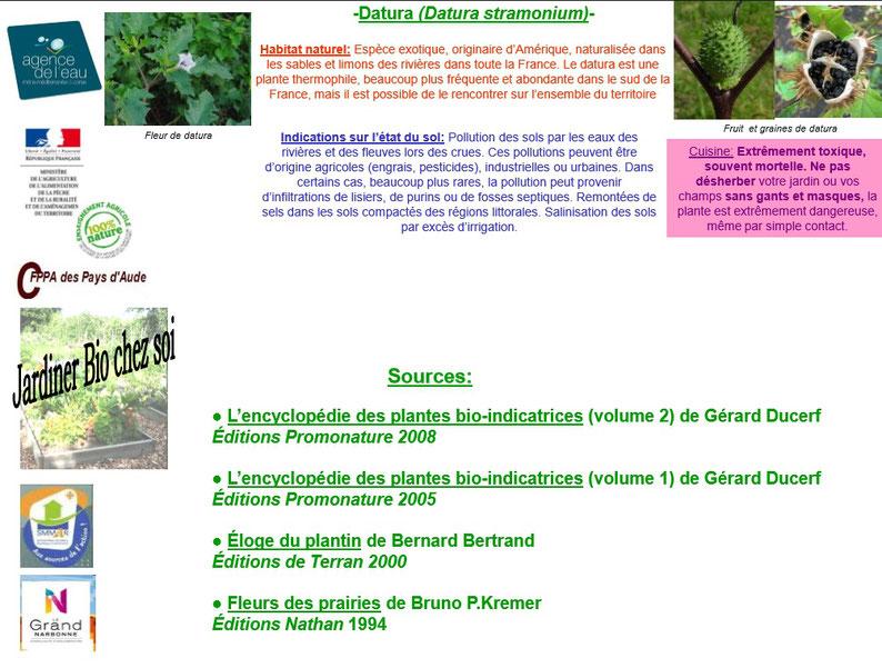 Les plantes bio indicatrices 10