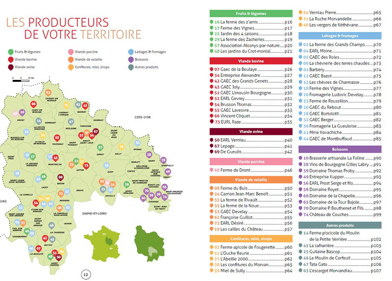 Annuaire des producteurs locaux de la région Autun Morvan
