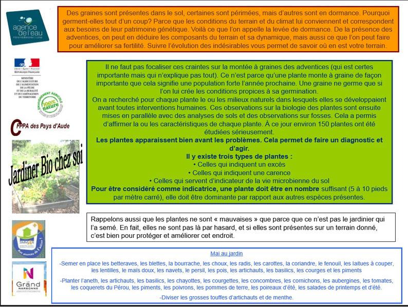 Les plantes bio indicatrices 1