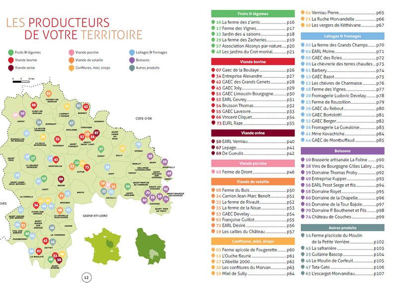Annuaire des producteurs de la région Autun Morvan