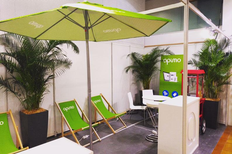Décoration végétale du stand de notre client à l'occasion du salon immobilier Fnaim qui s'est tenu au Palais des Congrès de Paris cette semaine.