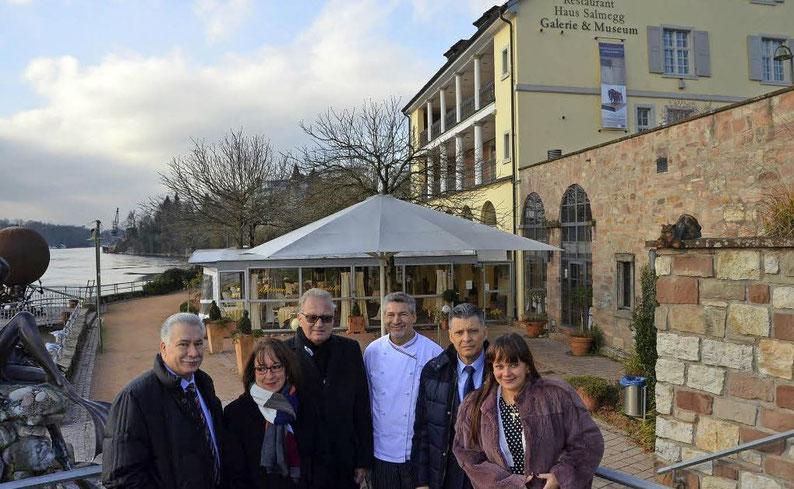 Enrico, Petra und Bruno Lamano mit Raffaele und Dana Maio