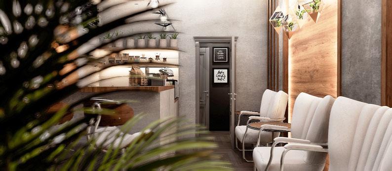 Дизайн интерьера кафе в стиле лофт от Анастасии Корябкиной