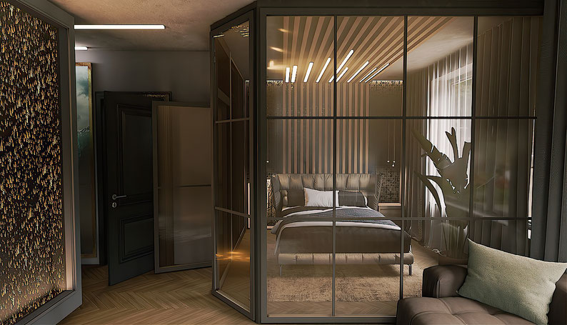 Квартира-студия для холостяка в стиле Лофт. Корябкина дизайн