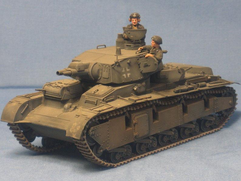 Neubaufahrzeug als Prototyp eines Schweren Kampfpanzers mit 7,5cm und 3,7cm Kanone Ausführung Krupp Deutsche Wehrmacht