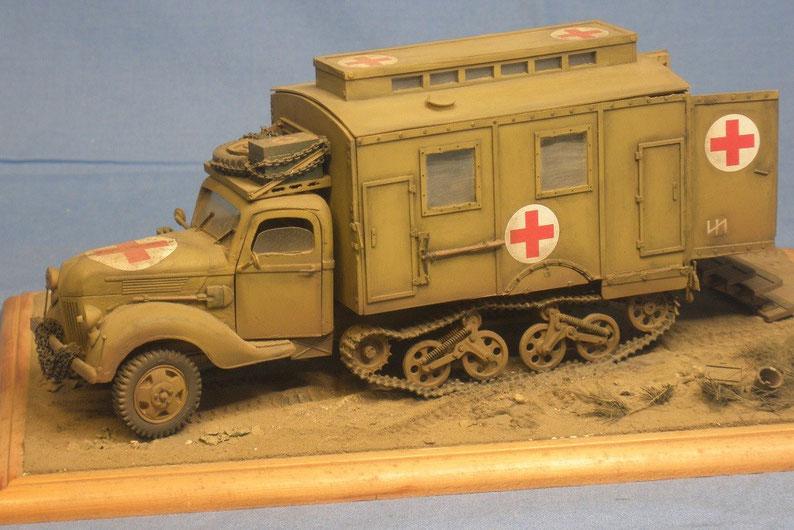 Ford Maultier 3t in Sanitätsauführung Deutsche Wehrmacht