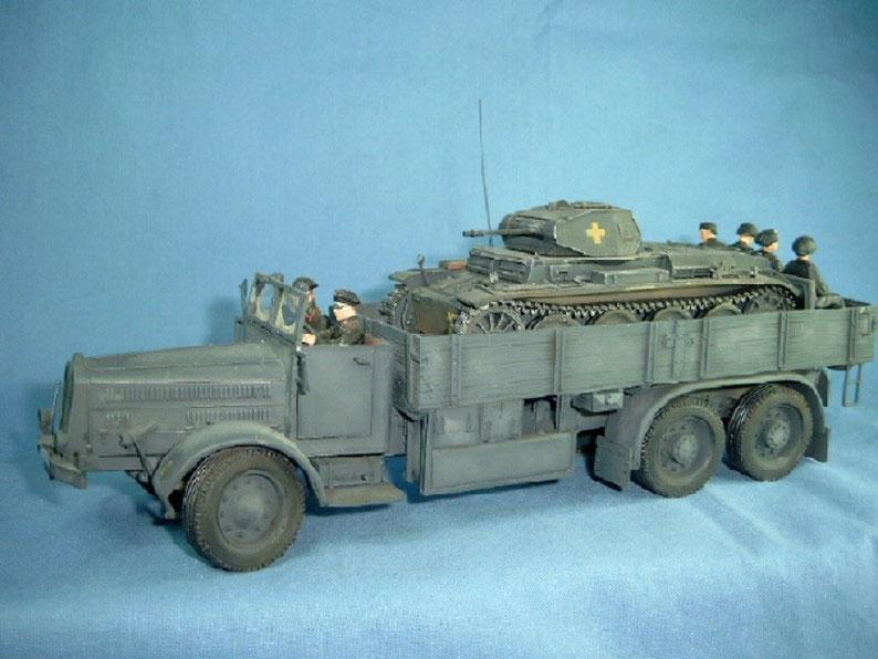 Faun L 900 D567 LKW Panzertransporter Deutsche Wehrmacht