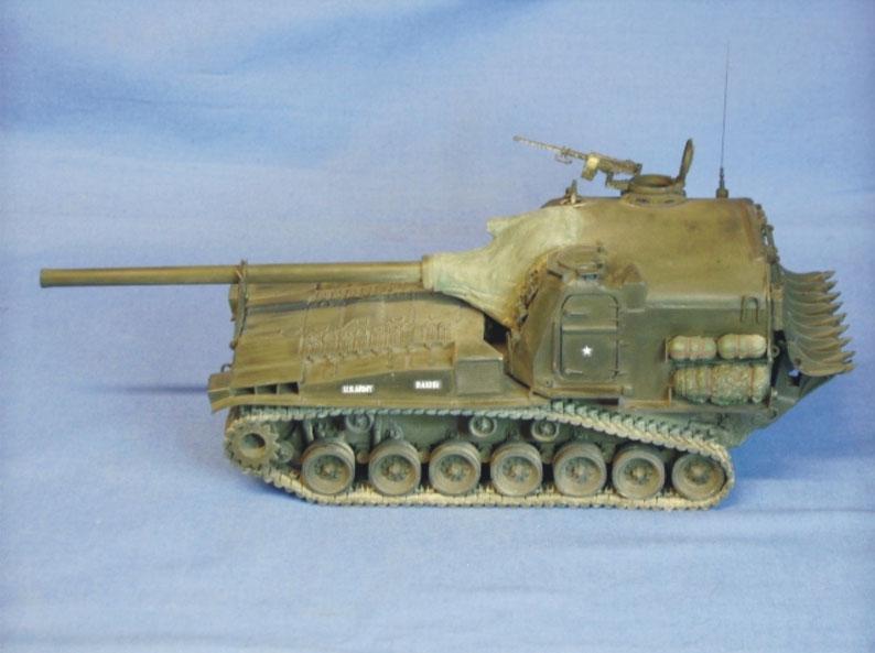 Schwere Panzerkanone 155mm M53 der US Army