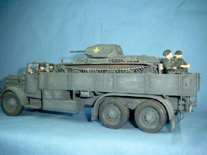 Komplettbesatzung für Panzertransporter Faun L 900 Panzertruppe Panzersoldat Figur Deutsche Wehrmacht