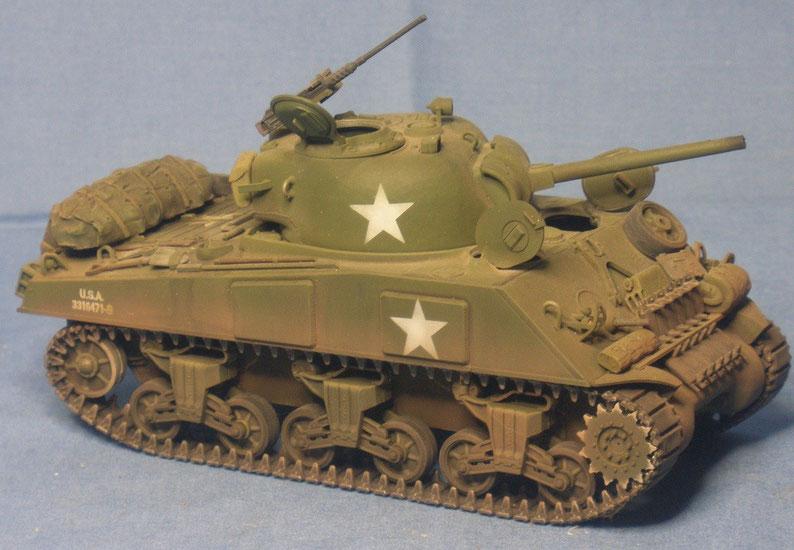 Kampfpanzer M4 A3 Sherman mit 75mm Kanone der US Armee Weltkrieg worldwar