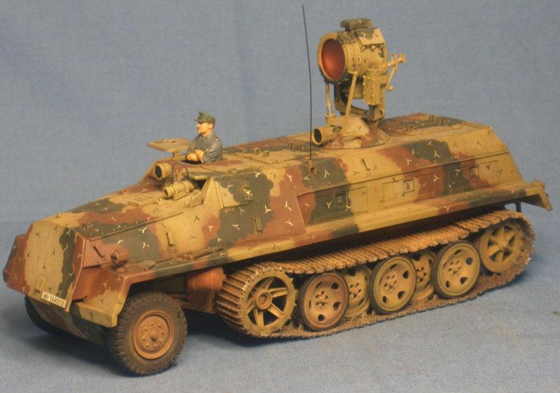 SWS mit 60cm Infrarotscheinwerfer Uhu Schwerer Wehrmachtsschlepper Deutsche Wehrmacht