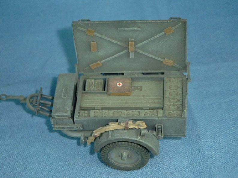 2cm Munitionskasten auf Sd.Ah. 51 Sd.Anh. 51 Munitionsanhänger Deutsche Wehrmacht