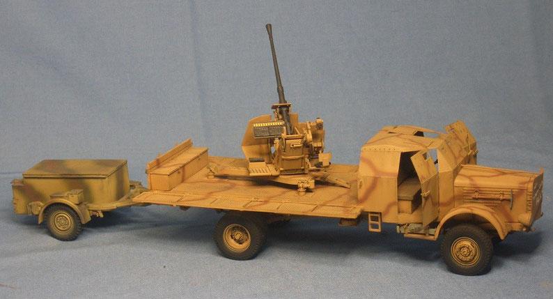 Büssing 4500 4,5t gepanzert mit 3,7cm Flak 37 und Munitionsanhänger Sd.Ah. 52 Sd.Anh. 52 Deutsche Wehrmacht