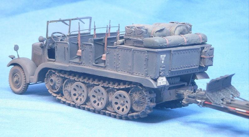 sd kfz 6 5t zugm artillerieversion 1 35 milit rmodellbau m rs. Black Bedroom Furniture Sets. Home Design Ideas