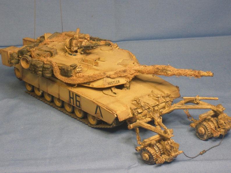 Kampfpanzer M1 A1HA Abrams mit Minenrollensystem der US Armee