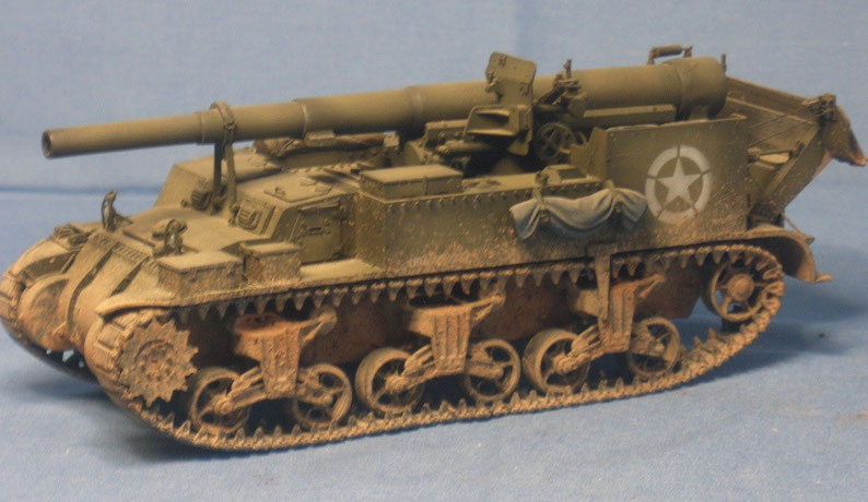 M12 155mm GMC auf M3 Lee Fahrgestell der US Armee Panzerartillerie Weltkrieg worldwar