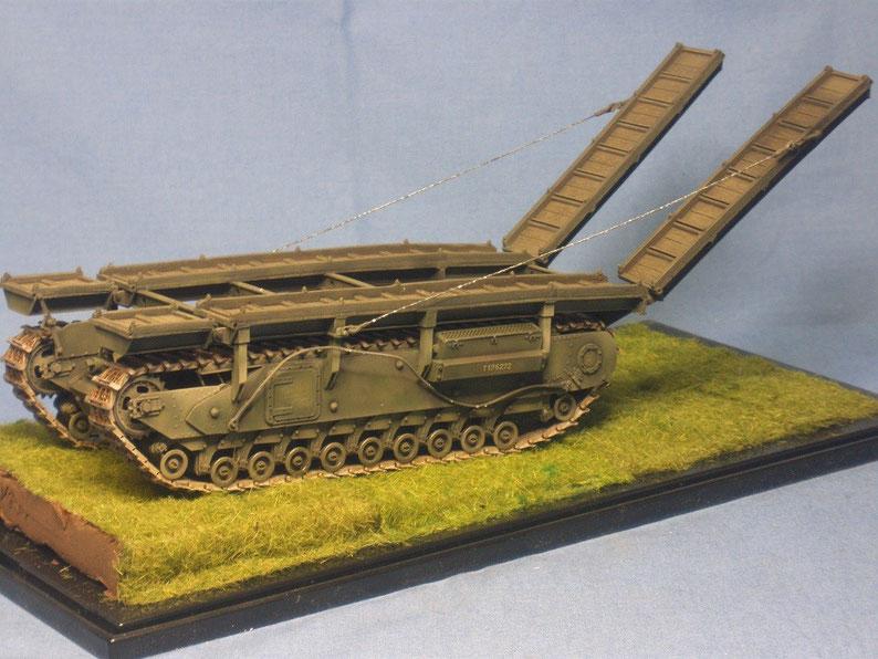 Brückenpanzer Churchill ARK der Britischen Armee Weltkrieg Worldwar