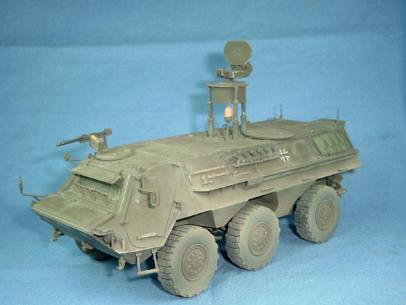 Aufklärungsradar Rasit auf Transportpanzer 1 Fuchs der Bundeswehr