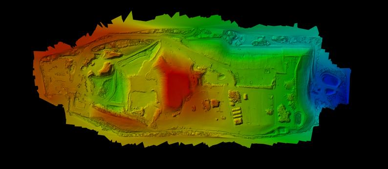 Farbcodierte Höhendarstellung der Entsorgungsanlage