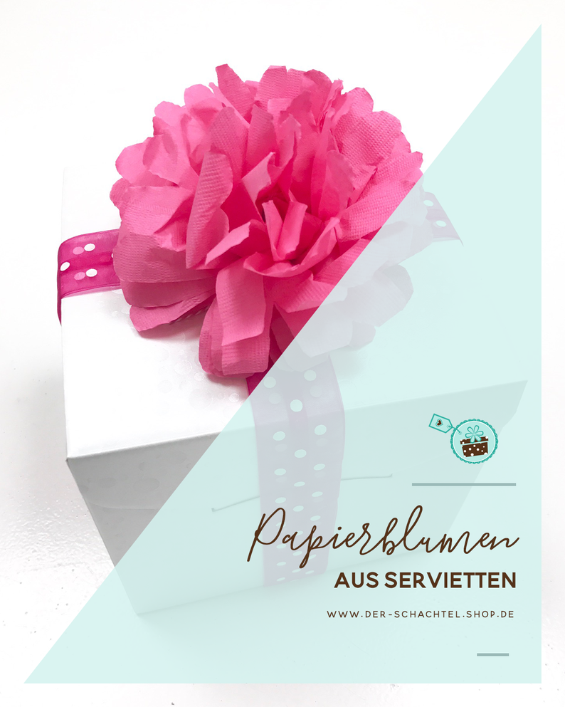 diy papierblumen aus servietten der schachtel shop m nchen. Black Bedroom Furniture Sets. Home Design Ideas