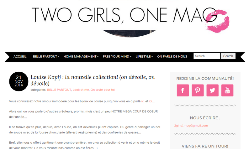 2 girls 1 mag || novembre 2014 || http://www.2girls1mag.com/louise-kopij-la-nouvelle-collection-on-devoile-on-devoile/
