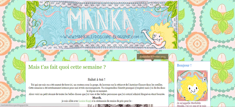 Blog Manka || février 2015 || http://mankaleidoscope.blogspot.be/2015/02/mais-tas-fait-quoi-cette-semaine.html
