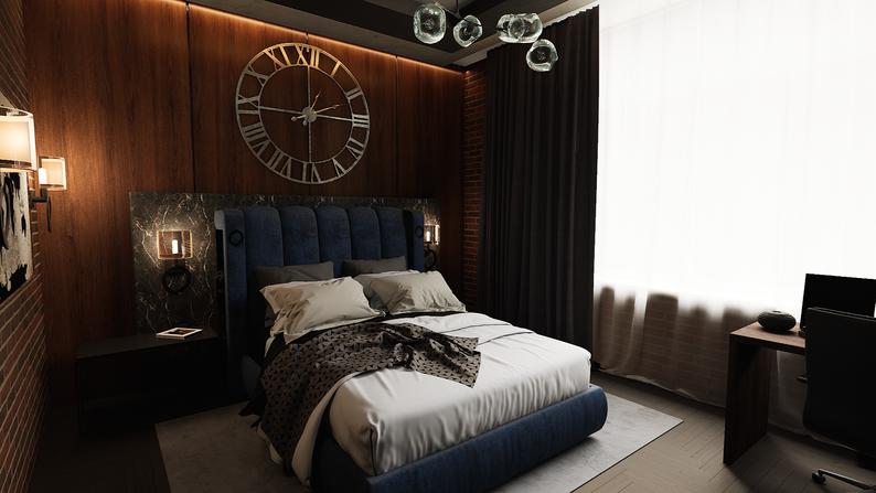 Дизайн спальни для мальчика в стиле лофт