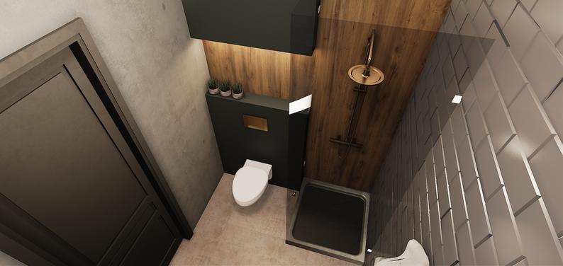 Ванная комната в комнате для мальчика в стиле лофт