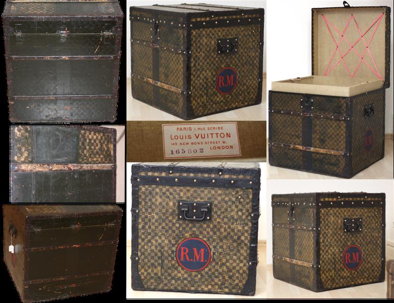 Louis Vuitton Koffer - Restauration Reisetruhe - Reparatur Koffer